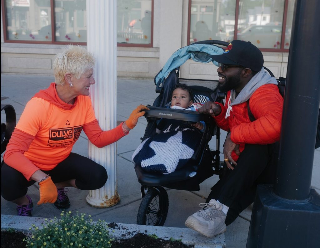 Linda Dulye and AJ Enchill with son Alfie