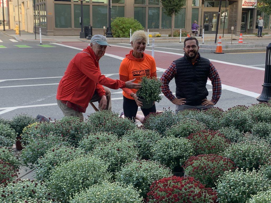 John Berndtson (Treasurer of Pittsfield Beautiful), Linda Dulye and Ricardo Morales